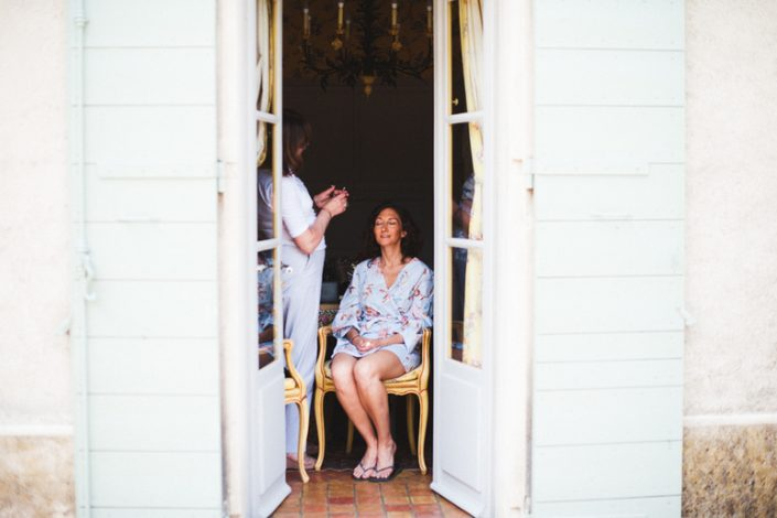 Bridal hair and makeup in Provence