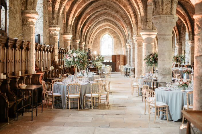 Historic Abbey hotel wedding planned by Fête in France
