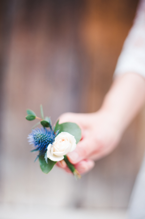Provence wedding boutonniere
