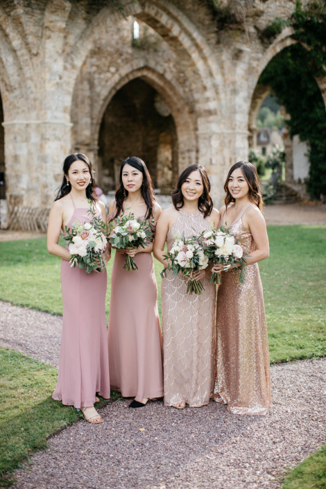 Bridesmaids at a Paris wedding