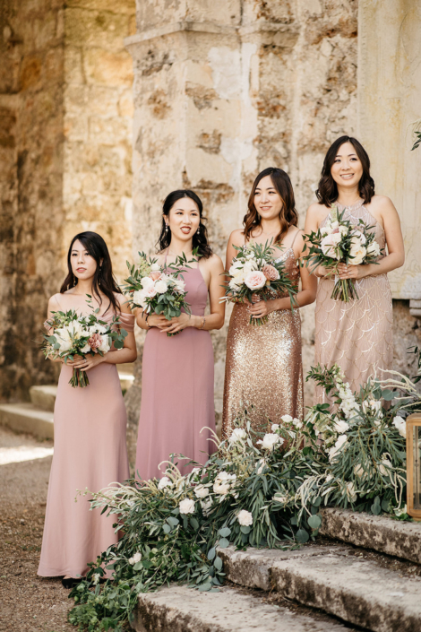 Paris wedding bridesmaids