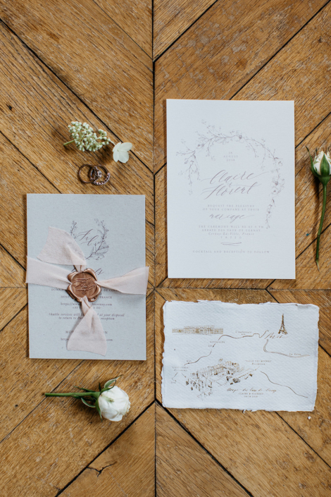 Luxury Paris wedding invitation