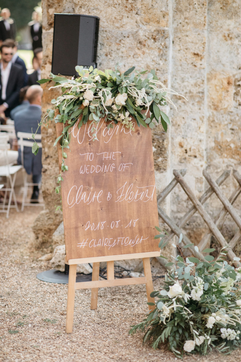 Paris wedding welcome sign