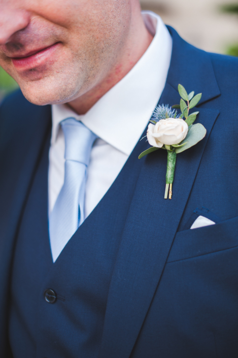 Boutonniere for a Provence wedding