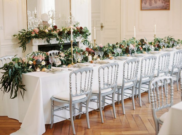 French countryside wedding reception