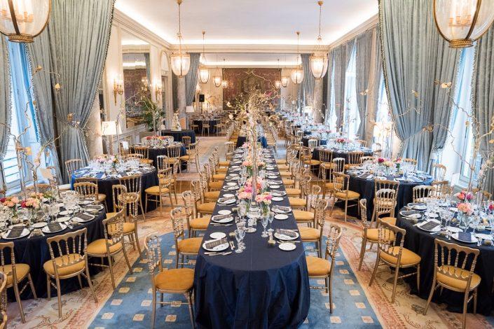 Paris ballroom wedding reception