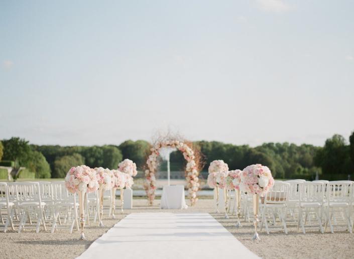Château de Vaux le Vicomte wedding ceremony planned by Fête in France