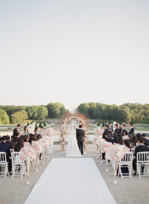 Paris chateau wedding ceremony planned by Fête in France