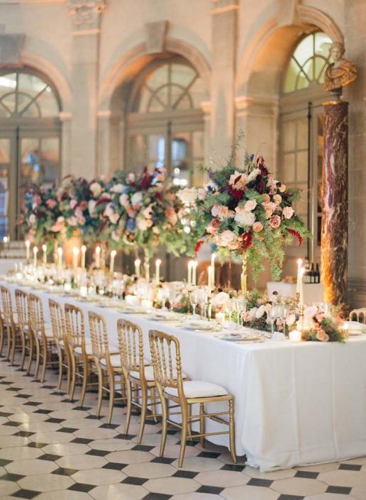 Wedding design at Château de Vaux le Vicomte by American Wedding Planner Fête in France