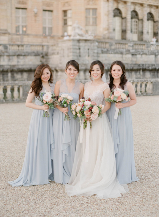 Paris wedding bridesmaids