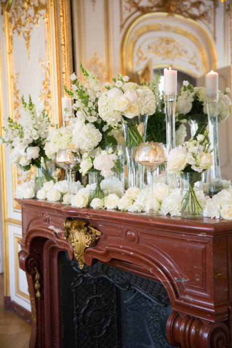 Paris wedding floral decoration planned by Fête in France