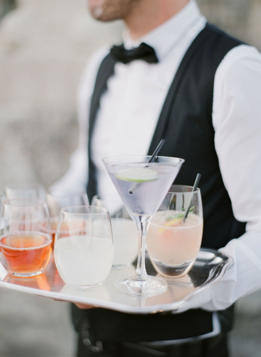 Paris wedding cocktail planned by Fête in France American wedding planner in France