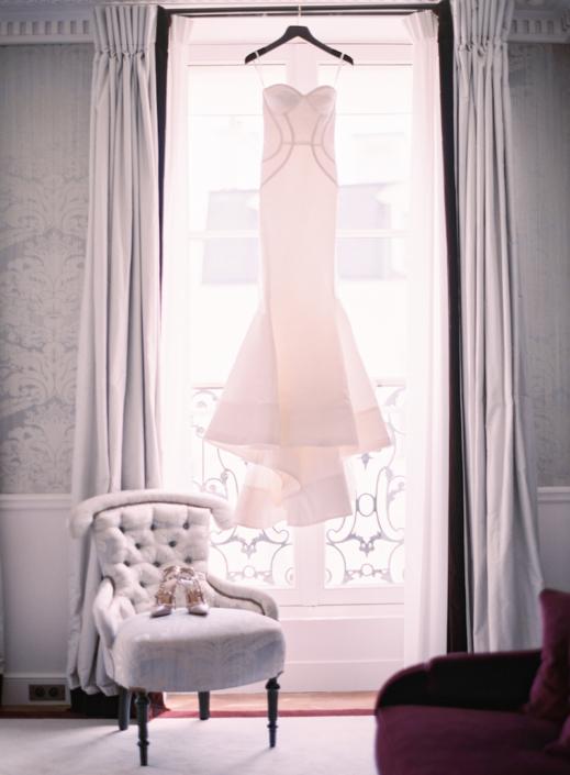 Paris wedding gown by Oscar de la Renta