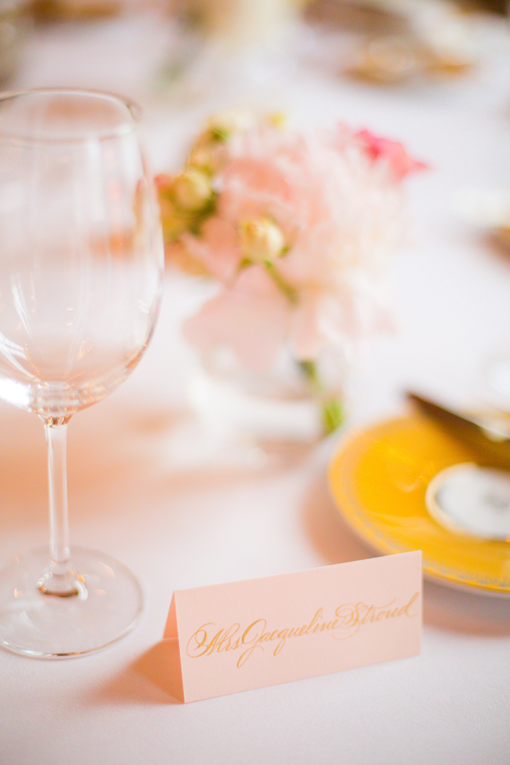 Calligraphied placecards