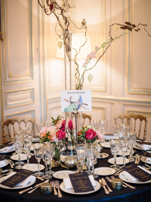 Paris wedding reception planned by Fête in France