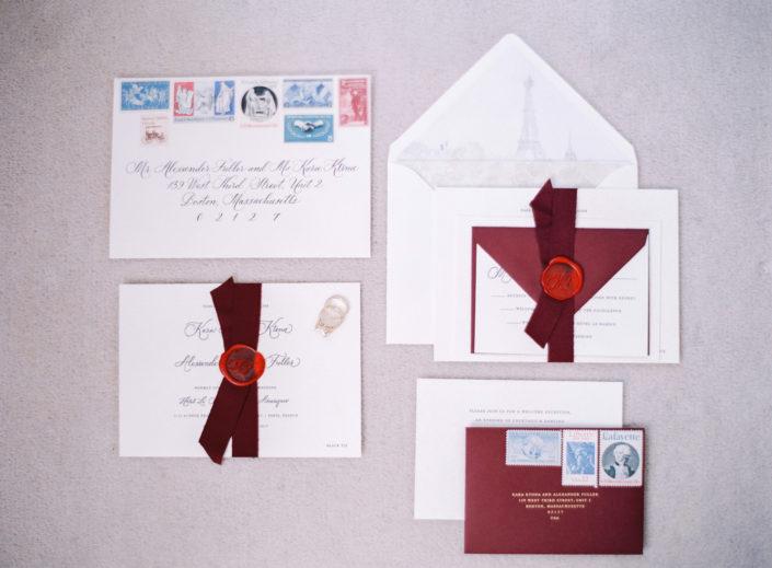 Paris wedding invitations by Ink Revival