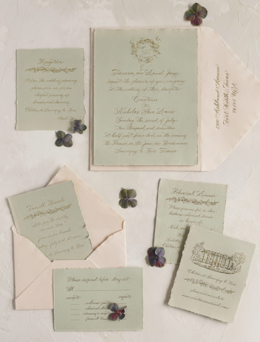 French wedding invitations
