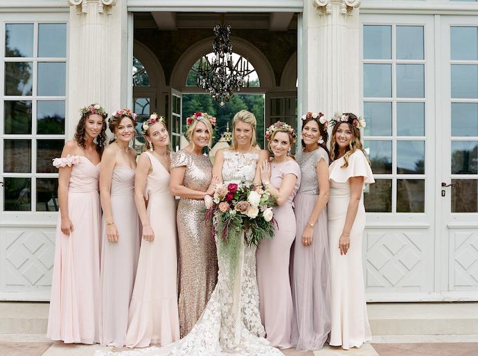 French wedding bridesmaids