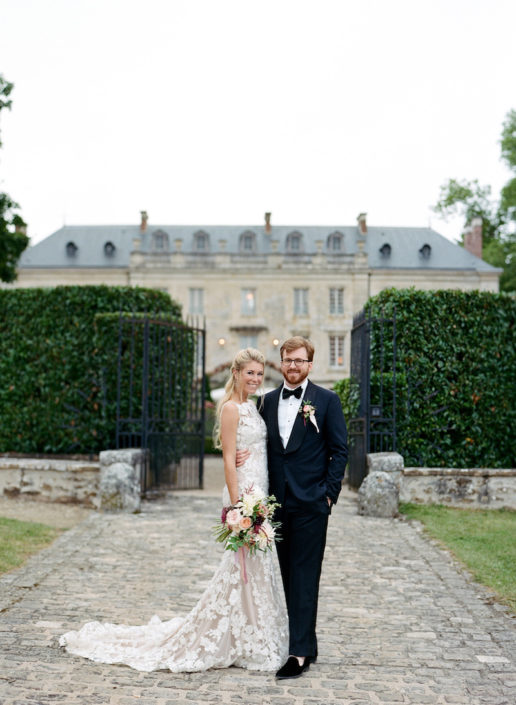chateau wedding burgundy