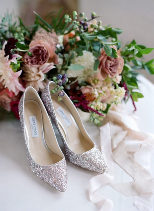 Jimmy Choo French wedding shoes
