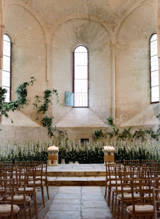 French château wedding ceremony planned by Fête in France