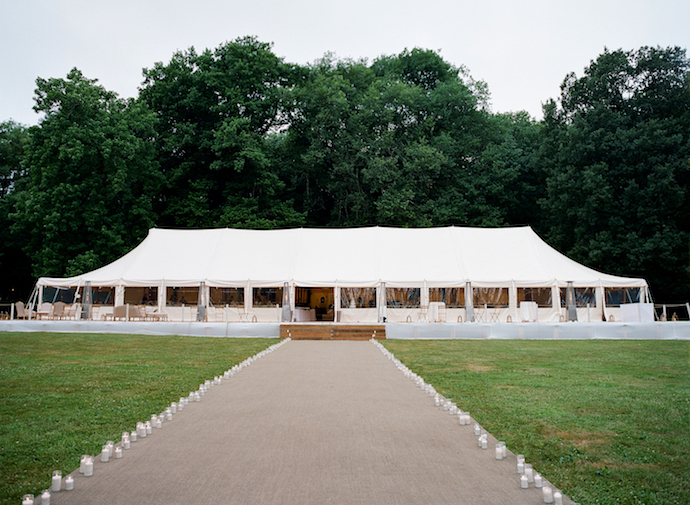 Luxury tent wedding in France