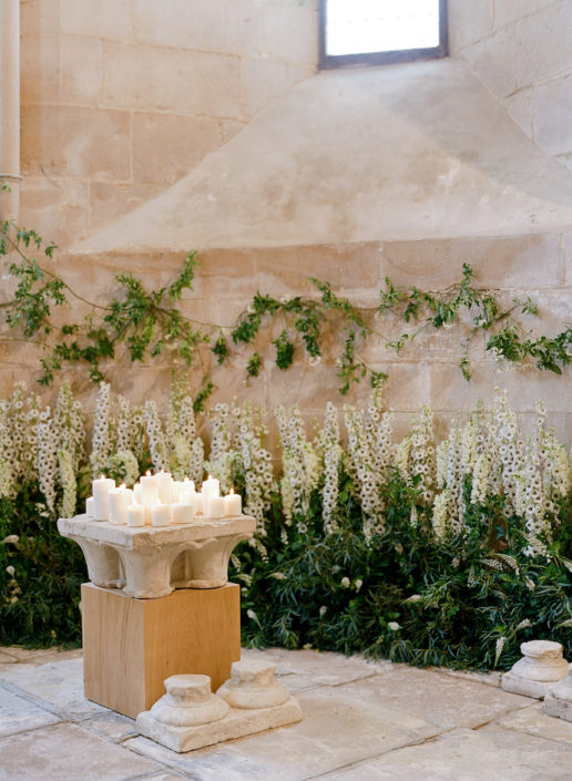 Wedding ceremony in a French chateau