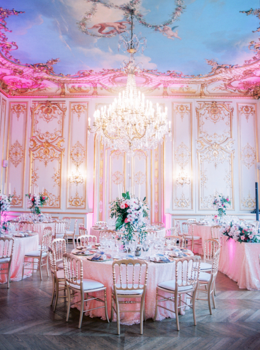 Paris ballroom wedding reception planned by Fête in France