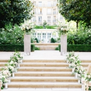 Ritz Paris garden wedding ceremony planned by Fête in France