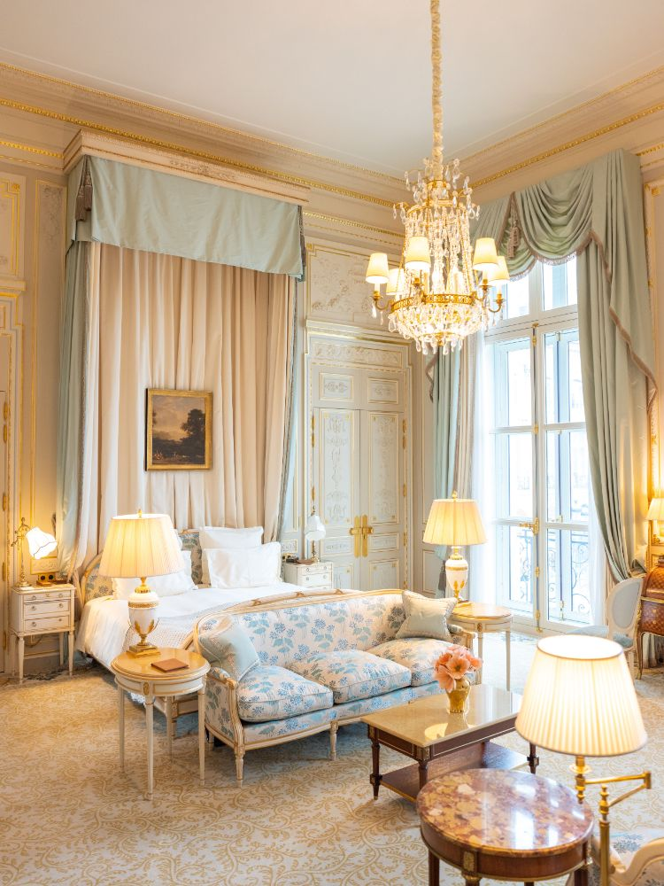 Ritz Paris hotel suite for a wedding planned by Fête in France