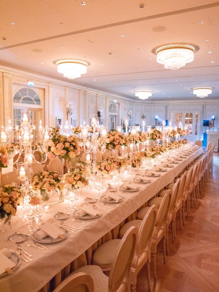 Paris ballroom wedding reception planned by Fête in France