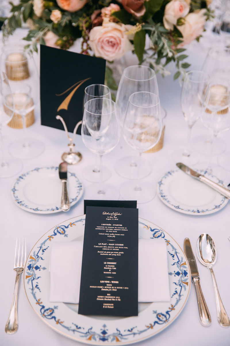 Ritz Paris wedding reception table designed by Fête in France