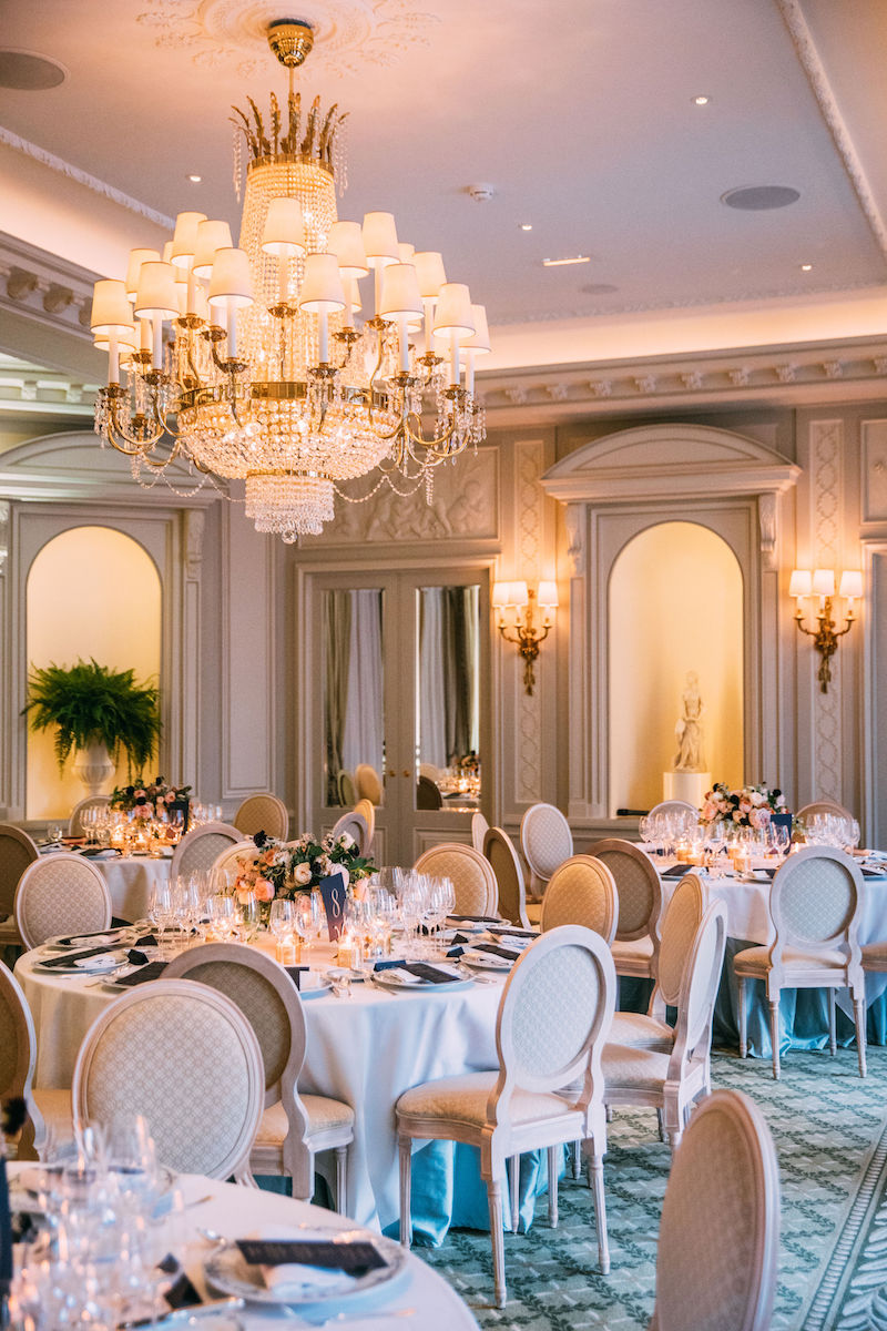 Ritz Paris intimate wedding reception dinner planned by Fête in France