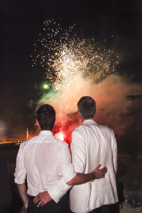 Loire Valley wedding fireworks