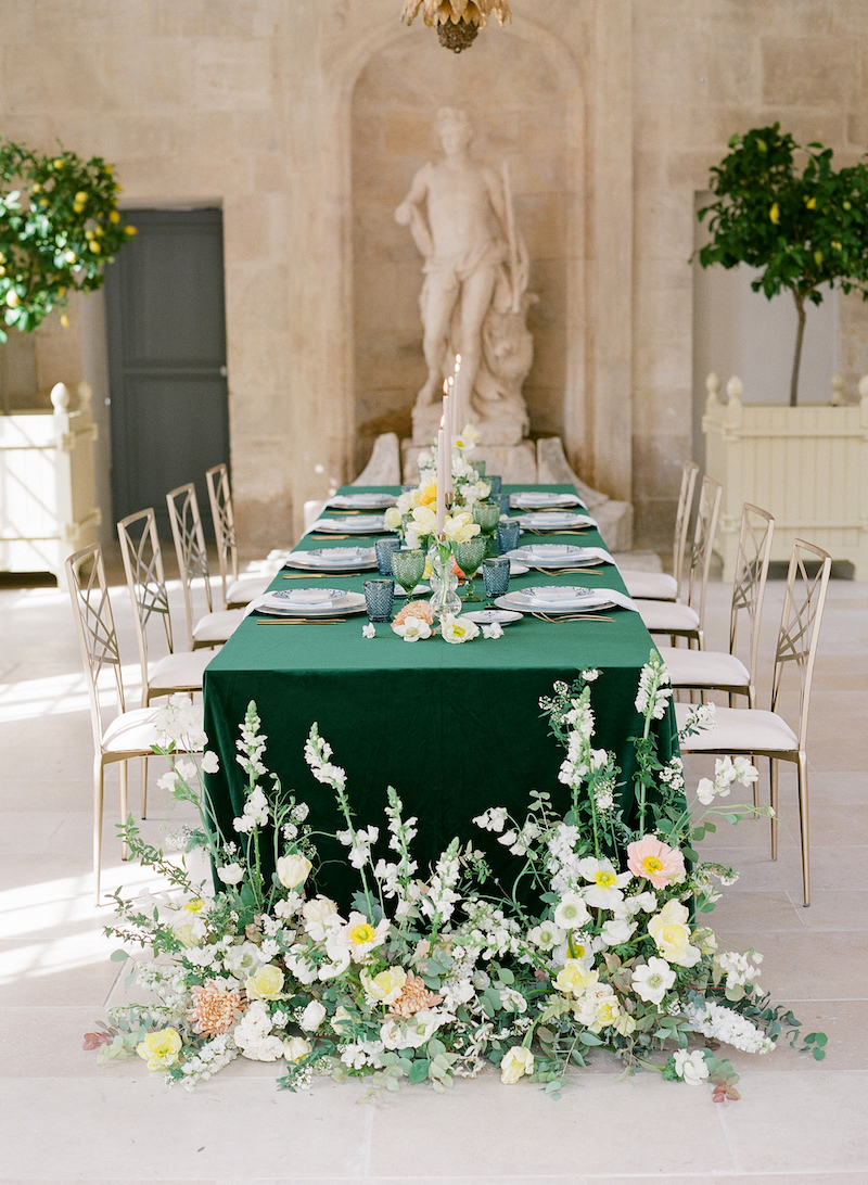 French Castle Wedding Wedding Inspiration Fete In France