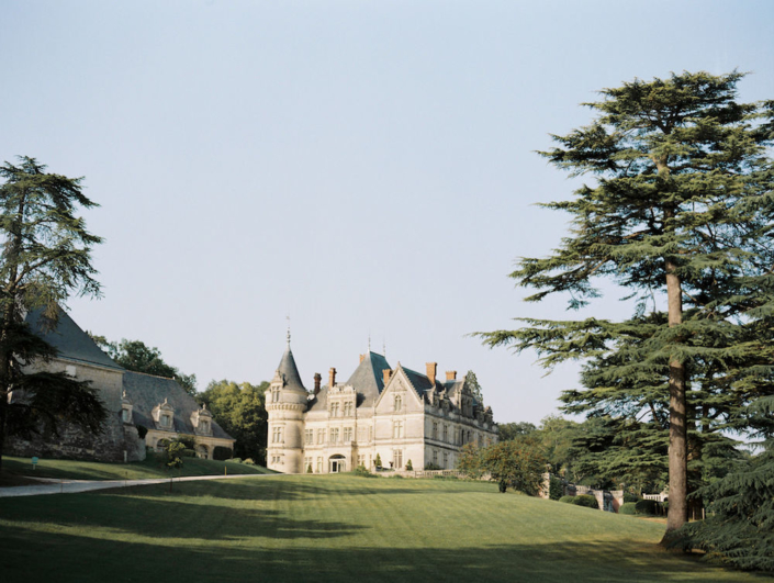 Wedding at a French château and gardens