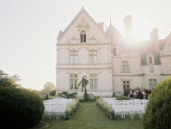 French château garden wedding ceremony planned by Fête in France