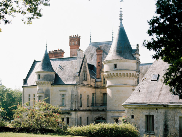 Loire Valley château and gardens for a destination wedding