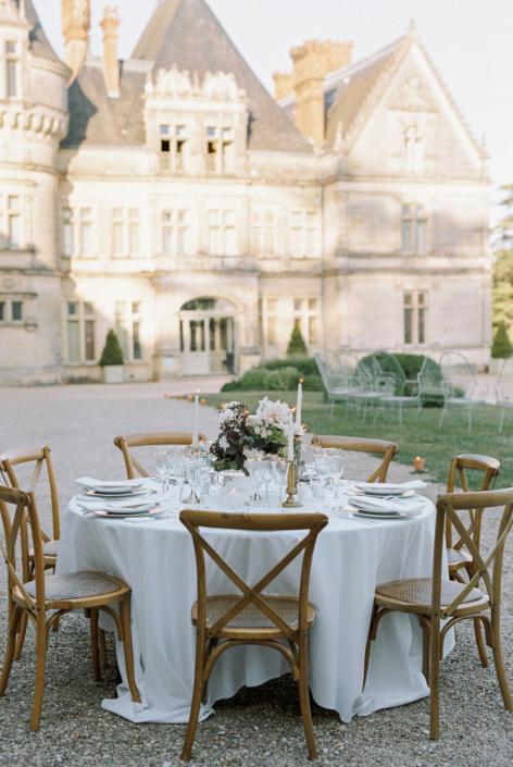 French château wedding reception