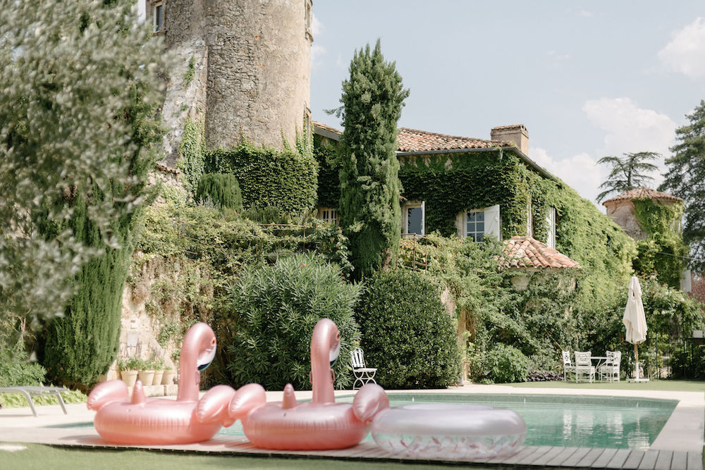 Wedding château with pool in southwest France