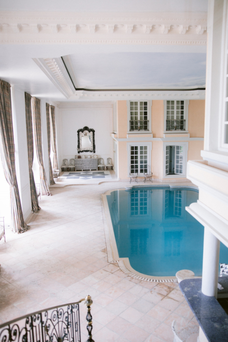 South of France château indoor pool