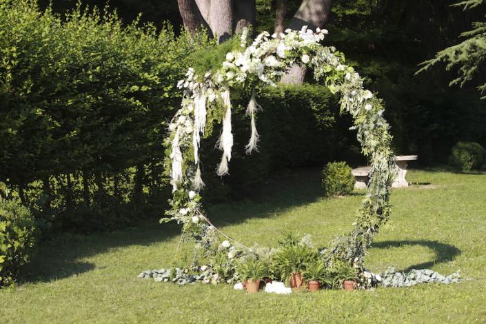 Cérémonie symbolique jardin chateau en Vallée de la Loire