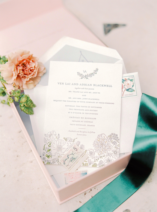 French wedding invitations