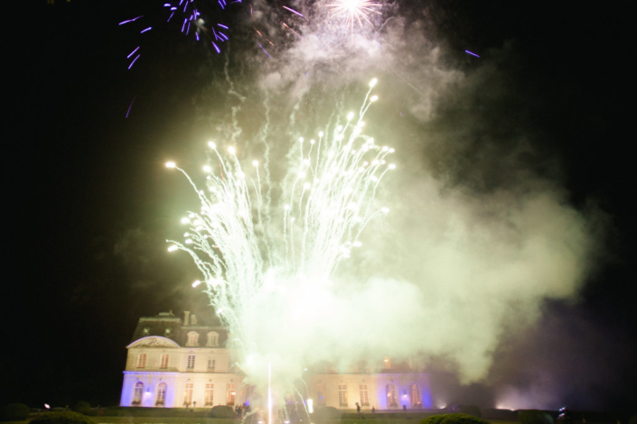 Loire Valley Château wedding fireworks