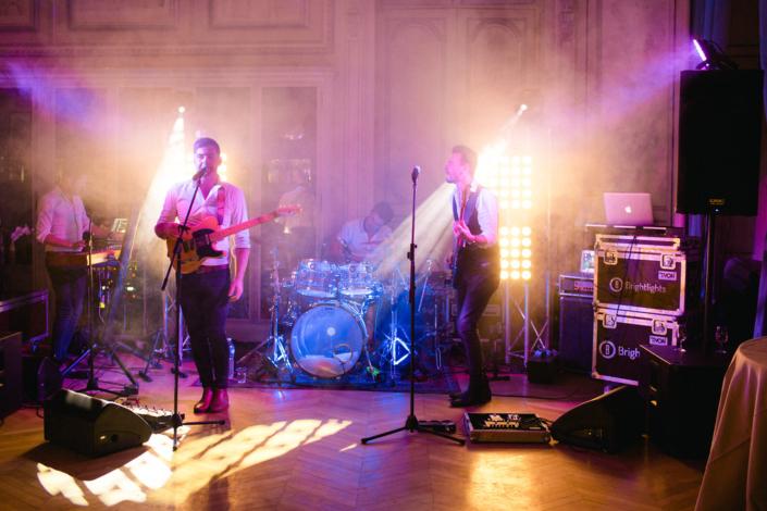 French château wedding band