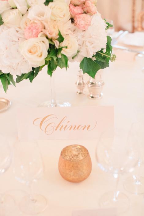 French chateau wedding reception