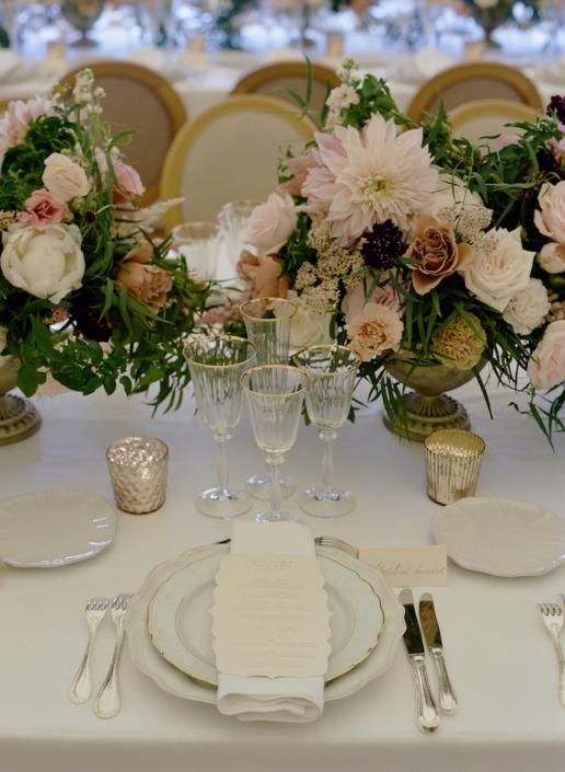 Décoration de table romantique - wedding planner France