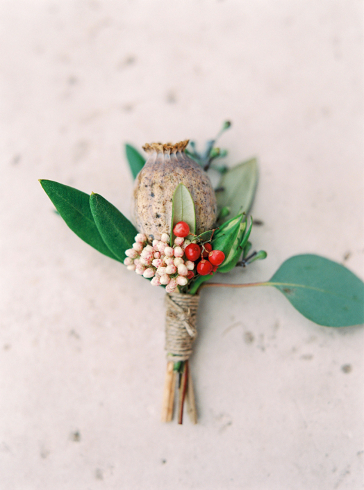 French wedding boutonniere