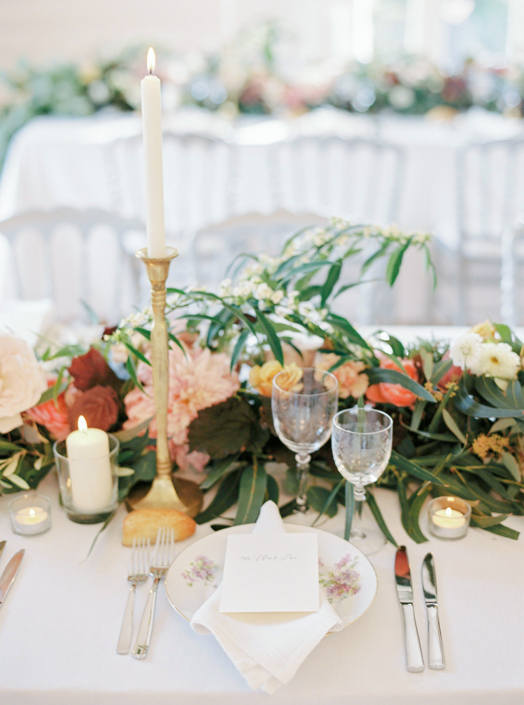 Wedding florals for a French countryside wedding