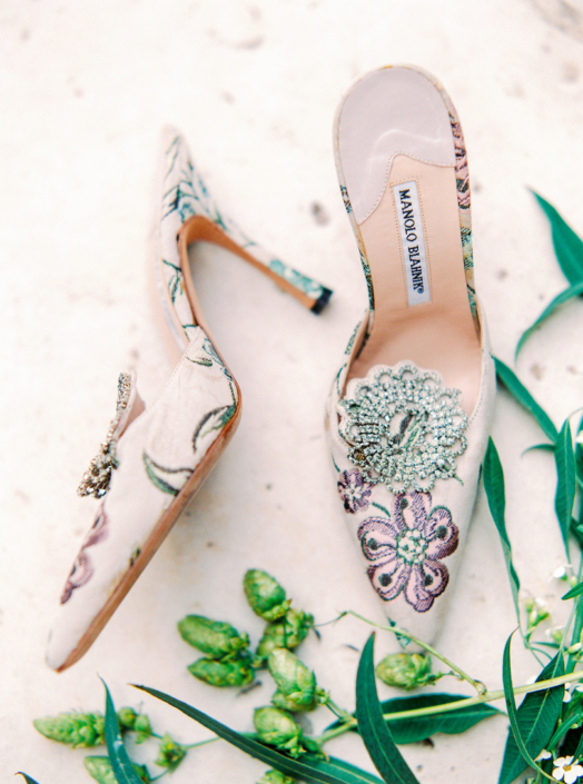 French wedding shoes by Manolo Blahnik